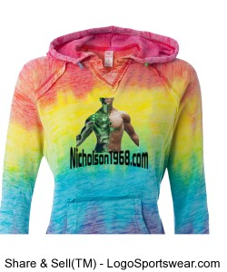 Weatherproof Ladies Courtney Burnout Hooded Blended Fleece Pullover Design Zoom